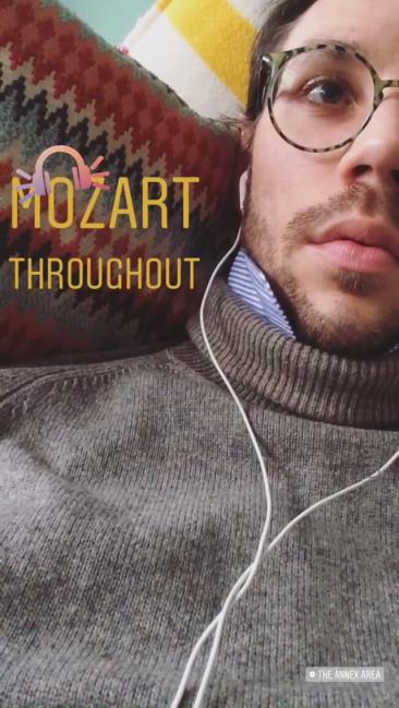 Listening to Mozart's Così fan tutte.